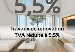 Le taux de TVA réduit à 5,5%